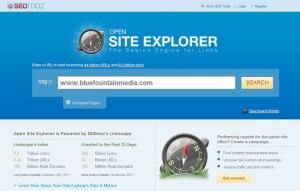 Herramienta Site Explorer